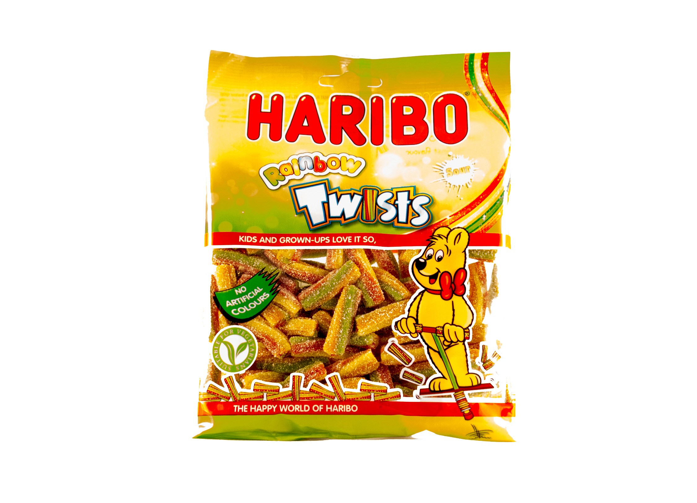 Haribo Sour Rainbow Twists (150g)