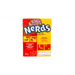 Willy Wonka Nerds Double Dipped Saucette Watermelon- Apple & Cherry- Lemonade (46.7g)