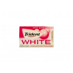 Trident Gum White Minty Bubbele (30,6g)