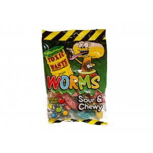 Toxic Waste Worms Sour & Chewy Jellies (142g)